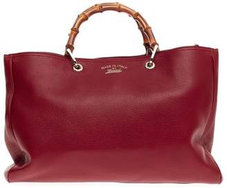 Gucci Bamboo Tote Shopper Large Red