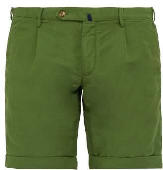 Incotex Slim Fit Linen Blend Chino Shorts - Mens - Green