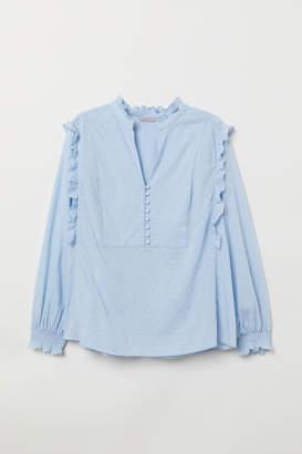 H&M H&M+ Cotton Blouse - Blue