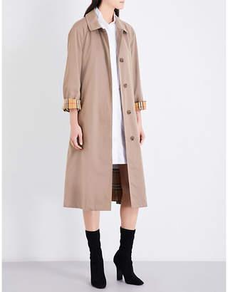 Burberry Ladies Taupe Brighton Cotton-Gabardine Car Coat