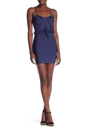 Wow Couture Sleeveless Peplum Waist Bandage Dress