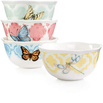 Lenox Butterfly Meadow Trellis Set of 4 Dessert Bowls