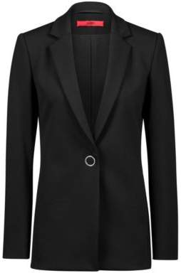 HUGO Boss -jersey jacket statement ring closure 4 Black