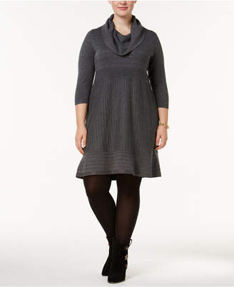 INC International Concepts I.n.c. Plus Size Cowl-Neck Sweater Dress, Created for Macy's
