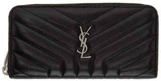 Saint Laurent Black Loulou Continental Wallet