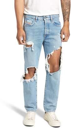 Diesel R) Mharky Slim Straight Leg Jeans