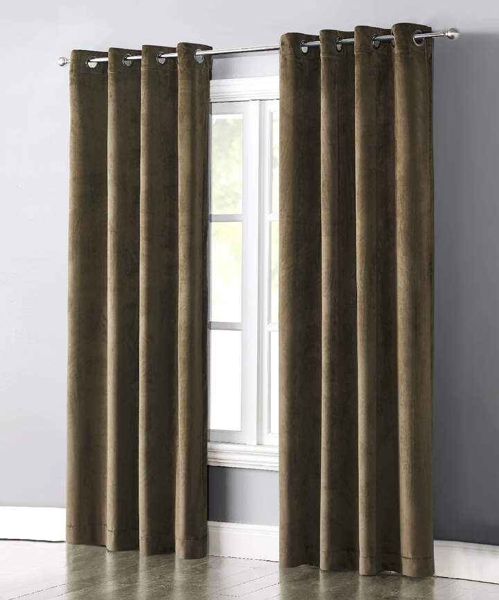 Gold Velvet Grace Curtain Panel
