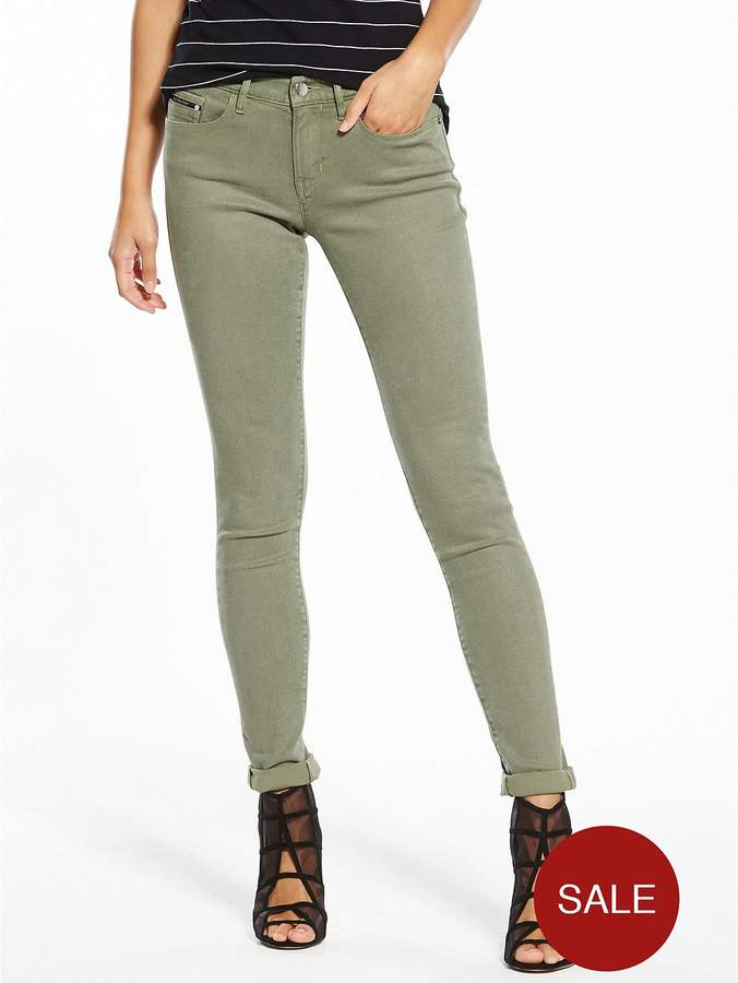 Mr Skinny Stretch Twill Trouser - Dusty ...