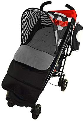 Koochi Footmuff/Cosy Toes Compatible with Sneaker Pushchair Dolphin Grey