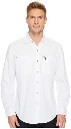 U.S. Polo Assn. Long Sleeve Dobby Sport Shirt Men's Clothing