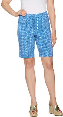 Fly London Susan Graver Printed Uptown Stretch Front Bermuda Shorts