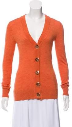 Tory Burch Button-Up Wool Cardigan