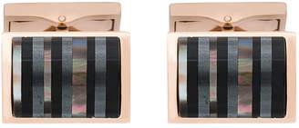 Canali striped embellished cufflinks