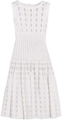 Alaia Laser-cut Knitted Dress