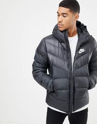 2c1783b4b115 Nike Down Filled Hooded Jacket In Black 928833-010