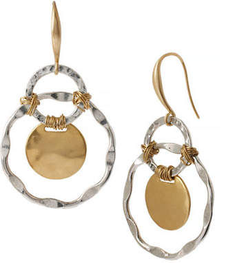 Robert Lee Morris Soho Wire Wrap Metal Drop Earring