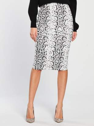 b1412da99 Very Textured Pencil Skirt - Snake Print