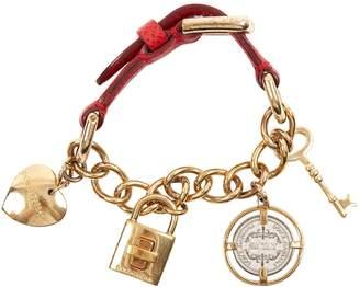 Dolce & Gabbana Red Leather Bracelets