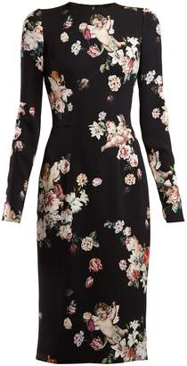 Dolce & Gabbana Angel and floral-print midi dress
