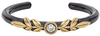 Fendi crystal-embellished enamelled bracelet