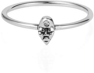 "Lee Renee Tiny voodoo Erzulie ring "" Diamond & silver"