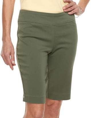 Croft & Barrow Women's Polished Pull-On Bermuda Shorts