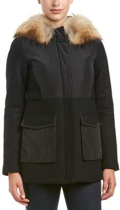 Maje Globe Wool-Blend Coat