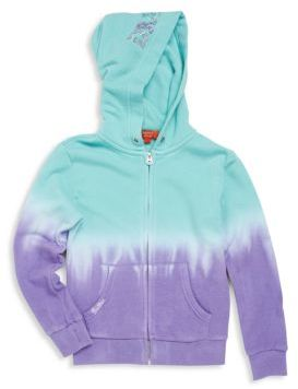 Little Girl's Dip-Dye Butterfly Print Hoodie $68 thestylecure.com