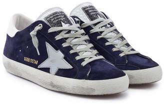 Golden Goose Superstar Suede Leather Sneakers