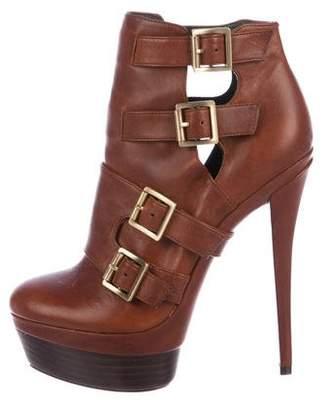Rachel Zoe Leather Platform Booties