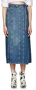 MM6 MAISON MARGIELA Women's Denim Wrap Skirt - Blue