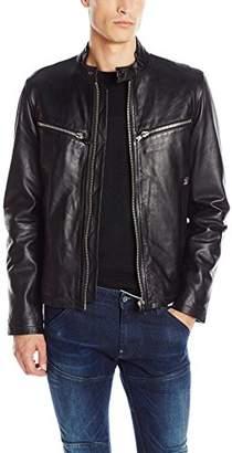 G Star Men's Mower Leather Moto Jacket