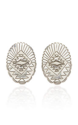 Fallon One-Of-A-Kind Oval Etched Earring