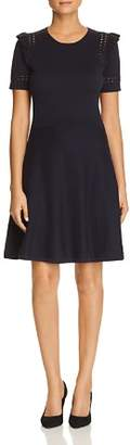Kate Spade Ruffle-Trim Sweater Dress