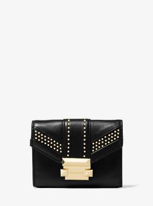 MICHAEL Michael Kors Whitney Small Studded Leather Chain Wallet