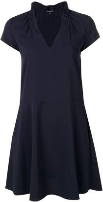 Emporio Armani flared V-neck dress