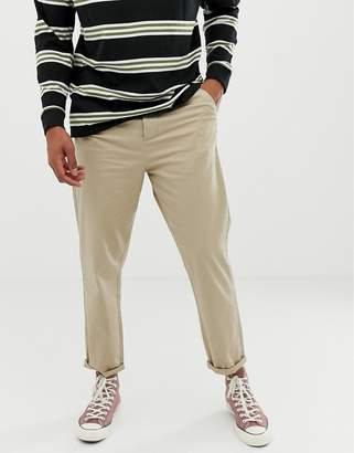 Asos Design DESIGN relaxed chinos in putty