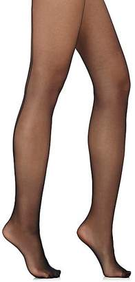 Wolford Women's Individual 10 Back Seam Tights - Blk, Blk