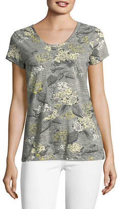 Style&Co. STYLE & CO. Essential Printed Cotton Tee
