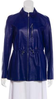 Hermes Structured Leather Jacket w/ Tags