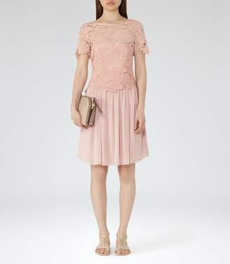 Reiss Milla Lace-Top Dress