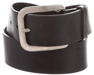 Ann Demeulemeester Leather Buckle Belt