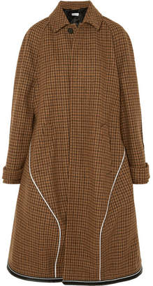 Balenciaga Houndstooth Wool-blend Coat - Brown