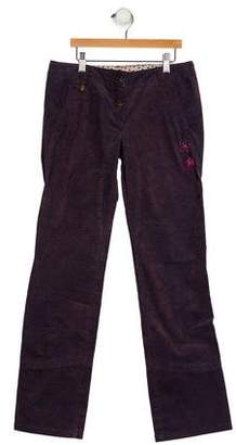 Catimini Girls' Corduroy Embroidered Pants