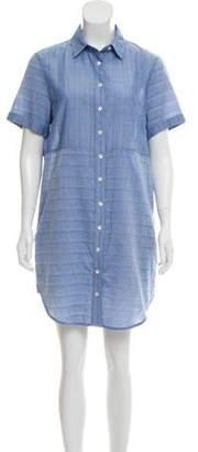 Frame Short Sleeve Mini Dress