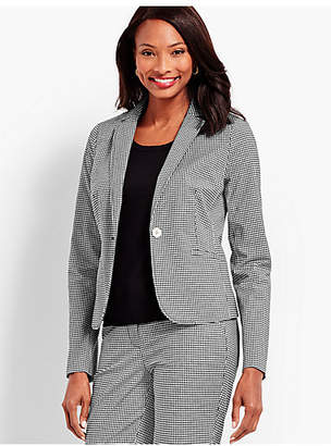Talbots One-Button Jacket - Gingham