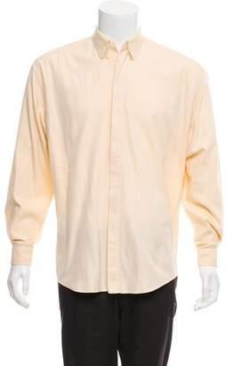Gianni Versace Bias Stripe Button-Up Shirt
