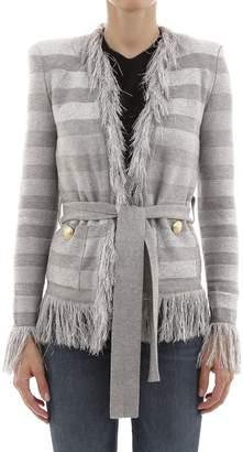Balmain Silver Lurex Sweater