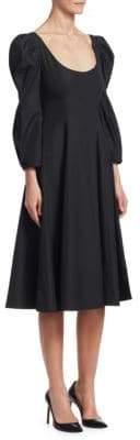 Khaite Edwina Cotton Midi Dress