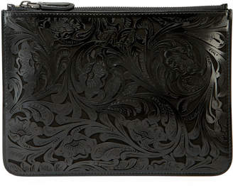 Ralph Lauren Laser Tooled Zip Pouch Clutch Bag